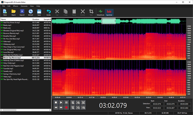 DJ Audio Editor, Recording Studio Software Screenshot