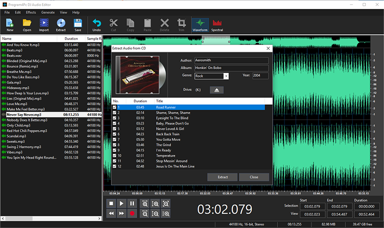 DJ Audio Editor, Audio Software Screenshot