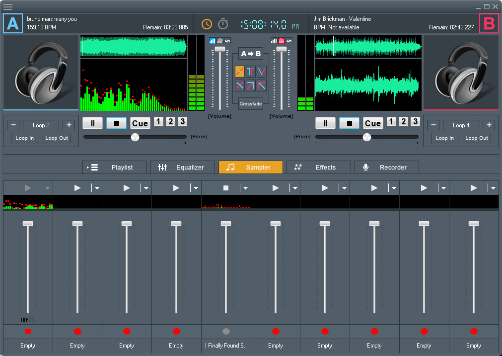 Music Software, DJ Mix Studio Screenshot