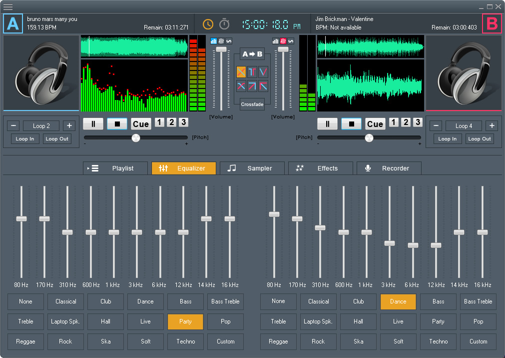 DJ Mix Studio, Music Software Screenshot