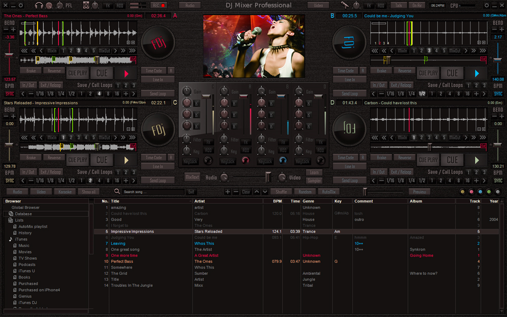 DJ Mixer Professional Screenshot