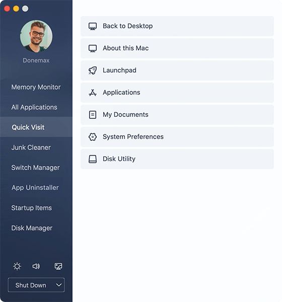 DMmenu for Mac, Software Utilities Screenshot