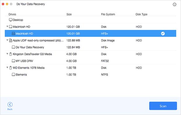 Do Your Data Recovery for Mac Screenshot