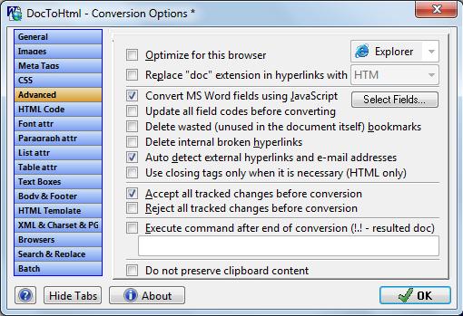 Website Builder Software, Doc To HTML Converter Screenshot