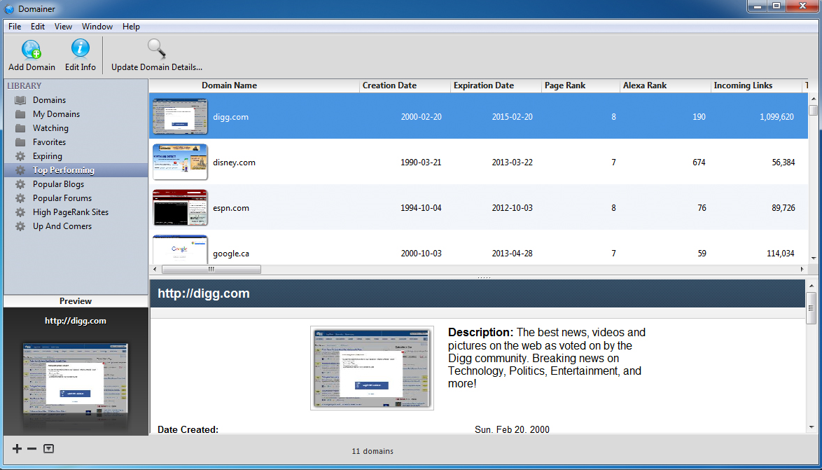 Website Promotion Software Screenshot