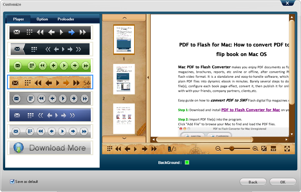 Doremisoft PDF to Flash Converter for Mac and PC, Business & Finance Software, PDF Conversion Software Screenshot