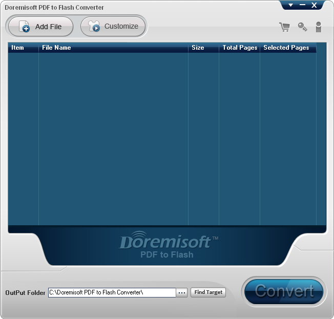 Business & Finance Software, Doremisoft PDF to Flash Converter for Mac and PC Screenshot