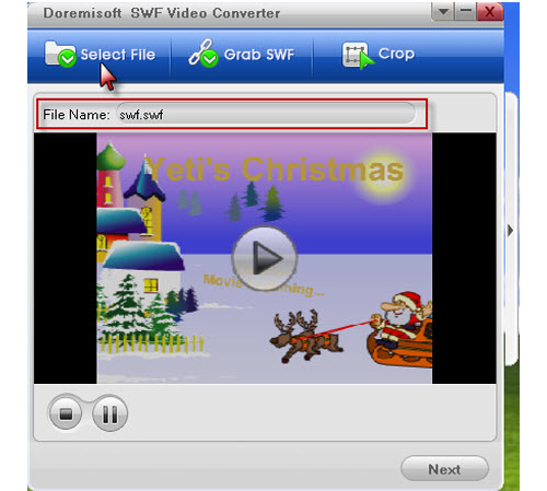 Video Converter Software, Doremisoft SWF Converter Screenshot