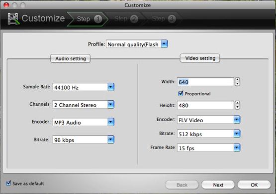 Doremisoft Video to Flash Converter, Video Converter Software Screenshot