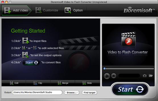 Doremisoft Video to Flash Converter Screenshot