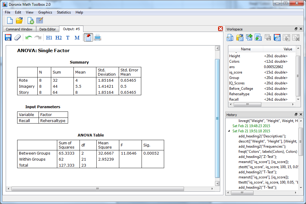 Doronix Math Toolbox 2.0, Other Utilities Software Screenshot