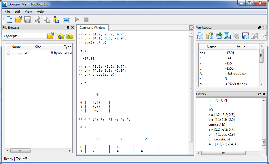 Doronix Math Toolbox, Hobby, Educational & Fun Software Screenshot
