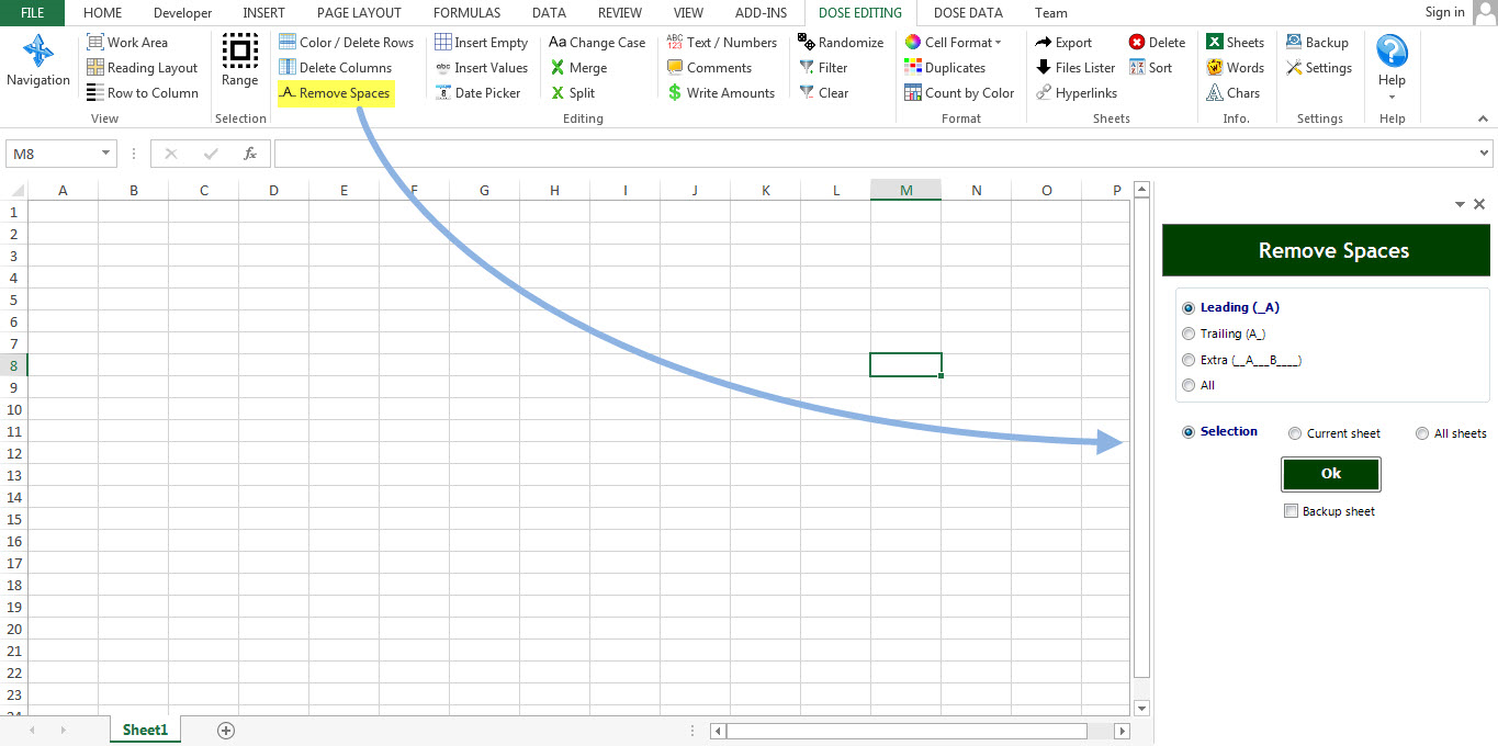 Dose for Excel Add-In Screenshot 27