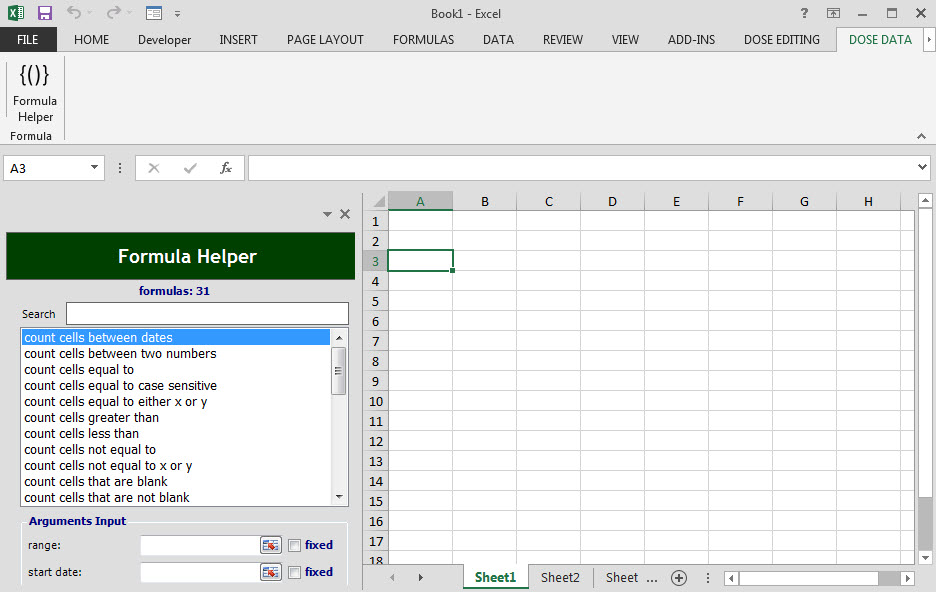 Dose for Excel Add-In Screenshot 12