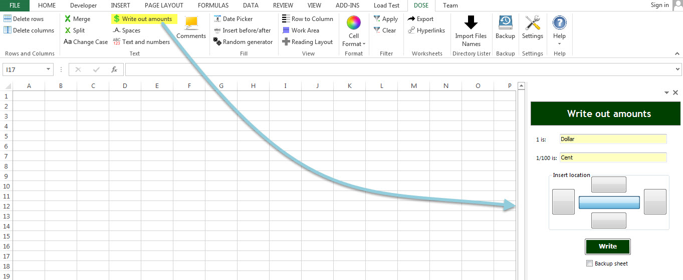 Dose for Excel Add-In Screenshot 28