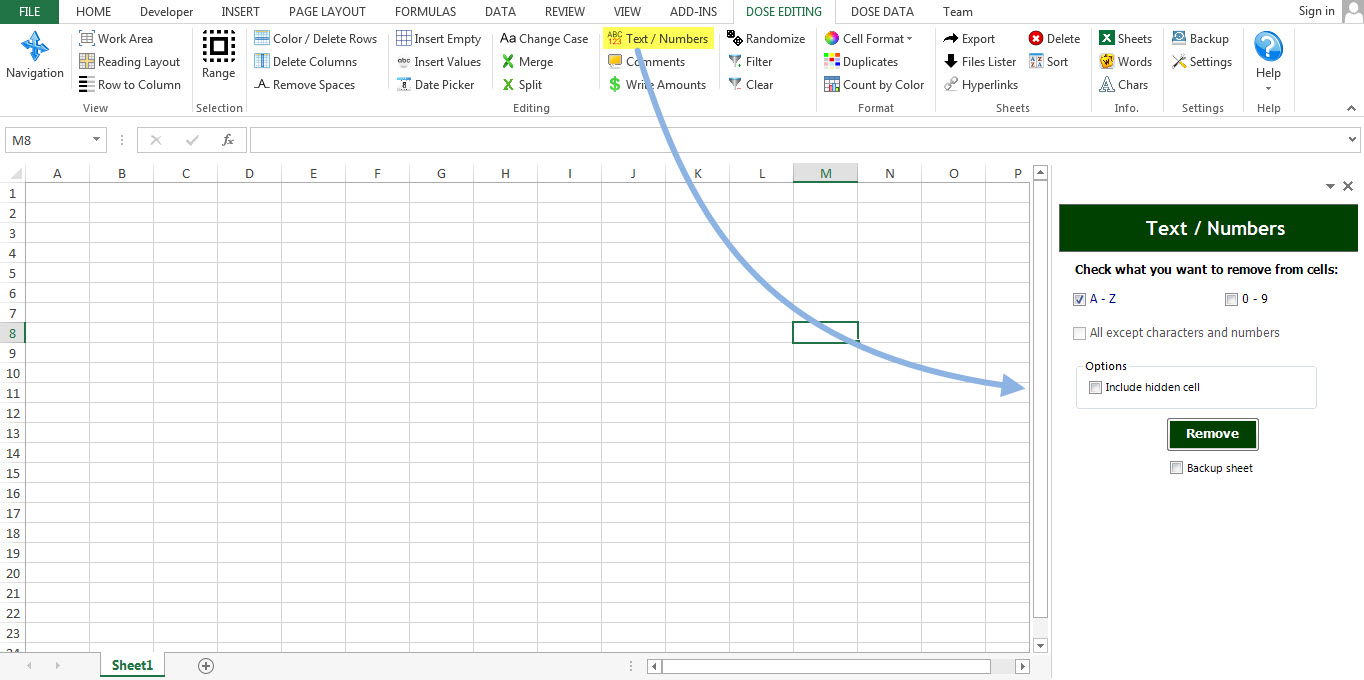 Dose for Excel Add-In Screenshot 25