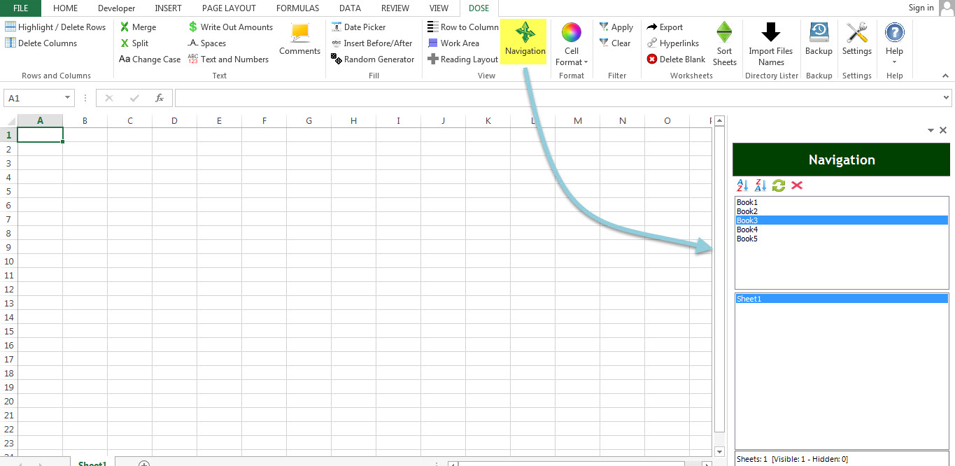 Dose for Excel Add-In Screenshot 20