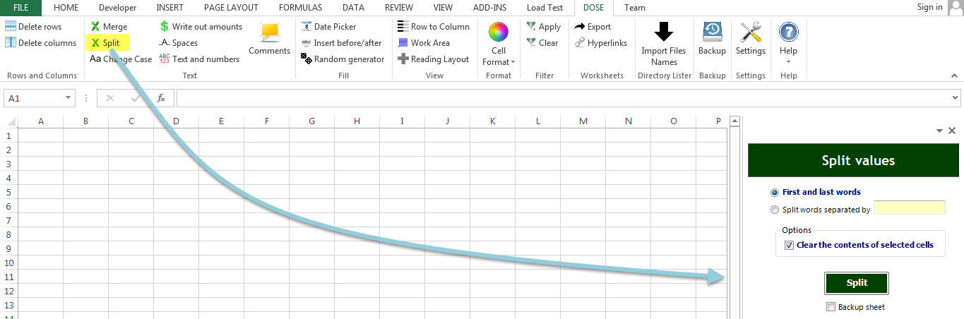Dose for Excel Add-In Screenshot 26