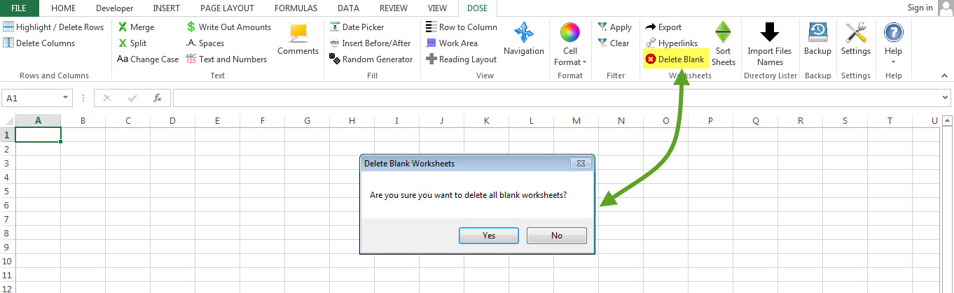 Dose for Excel Add-In Screenshot 9