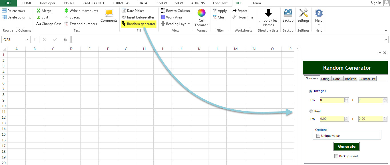 Dose for Excel Add-In Screenshot 21