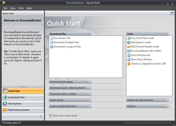 DownloadStudio, Internet Download Manager Software Screenshot