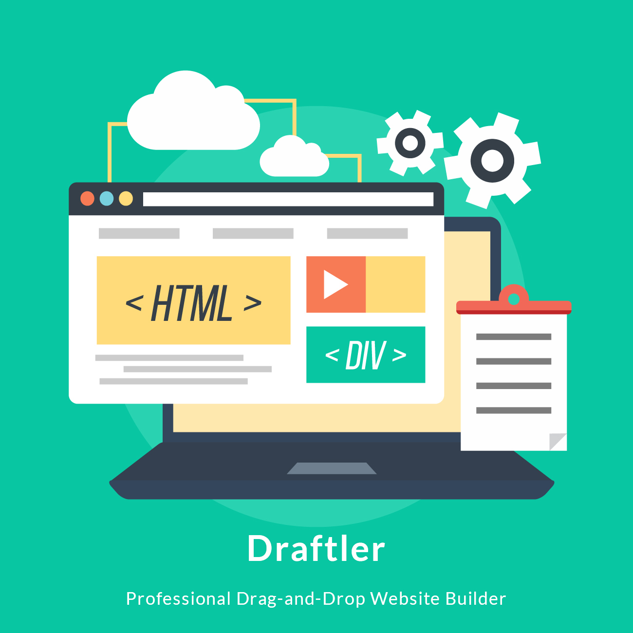 DRAFTLER - Professional Drag-And-Drop Website Builder Screenshot