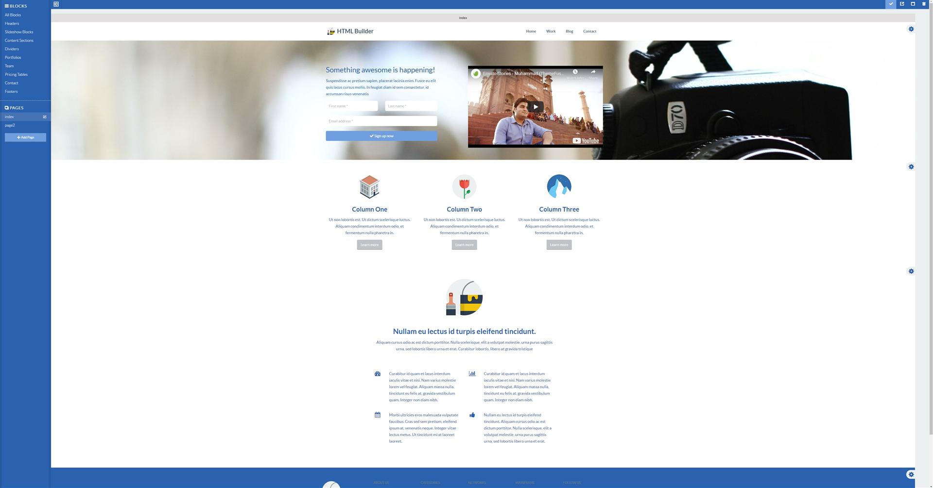 DRAFTLER - Professional Drag-And-Drop Website Builder, Website Builder Software Screenshot