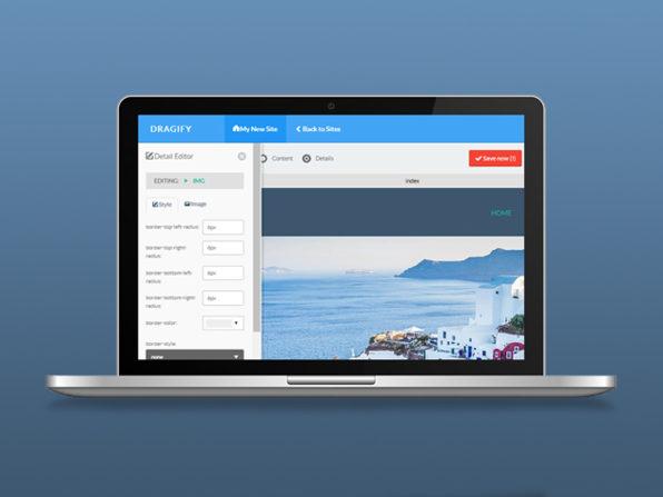 Dragify Website Builder, Website Builder Software Screenshot