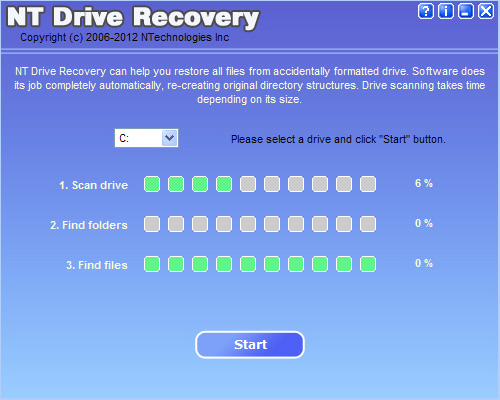 Drive Recovery Screenshot