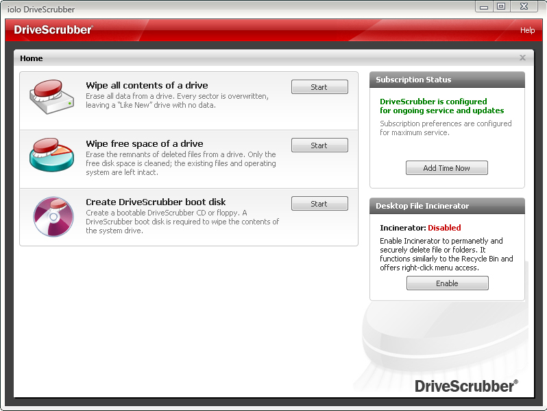 Drive Scrubber Screenshot