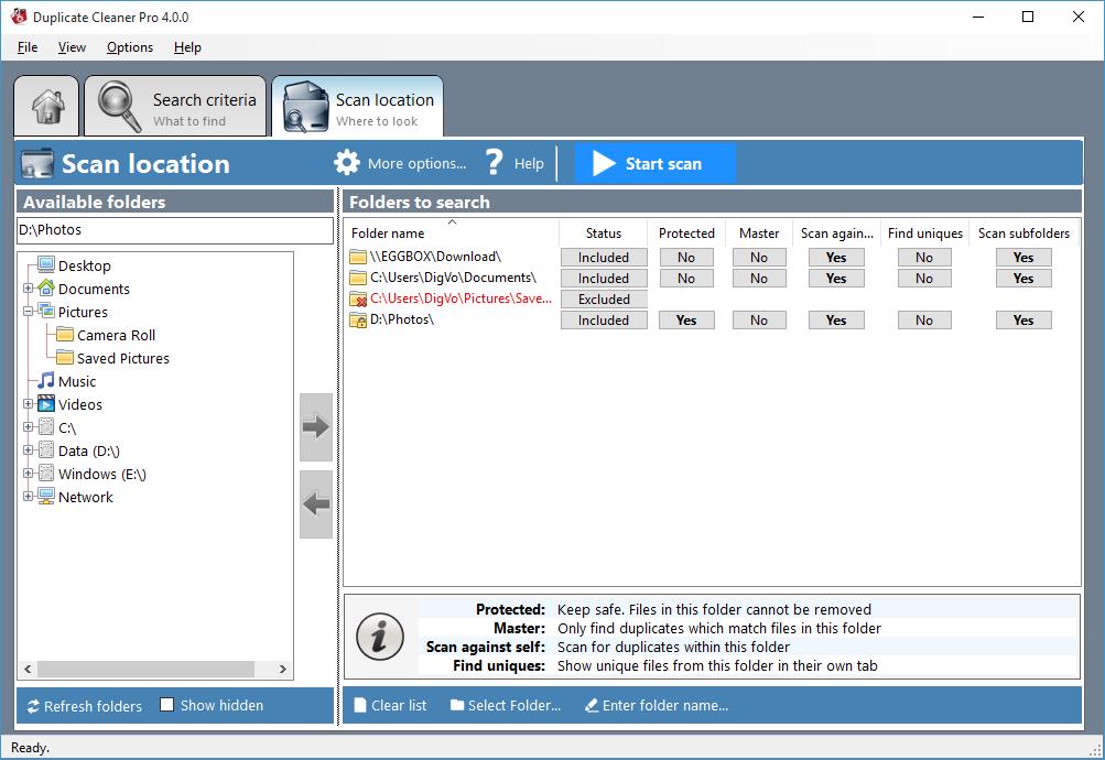 Duplicate Cleaner Pro, Duplicate Files Software Screenshot