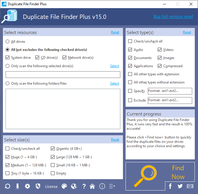 Duplicate File Finder Plus Screenshot