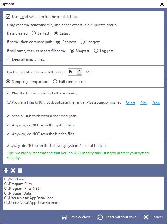 Duplicate File Finder Plus, Software Utilities Screenshot