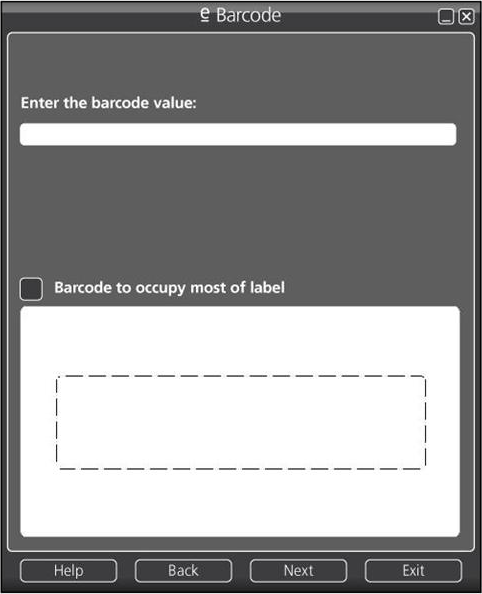 e-Barcode, Barcode Software Screenshot