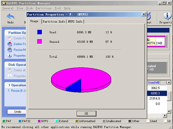 EASEUS Partition Manager, Hard Drive Software Screenshot