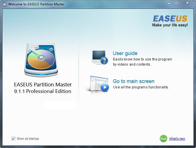 EaseUS Partition Master Professional Edition Built-in Linux
