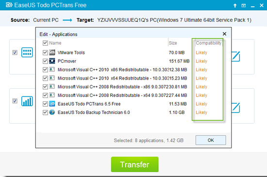 Software Utilities, EaseUS Todo PCTrans Pro Screenshot