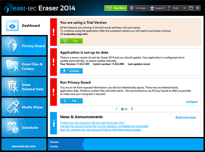 east-tec Eraser Screenshot