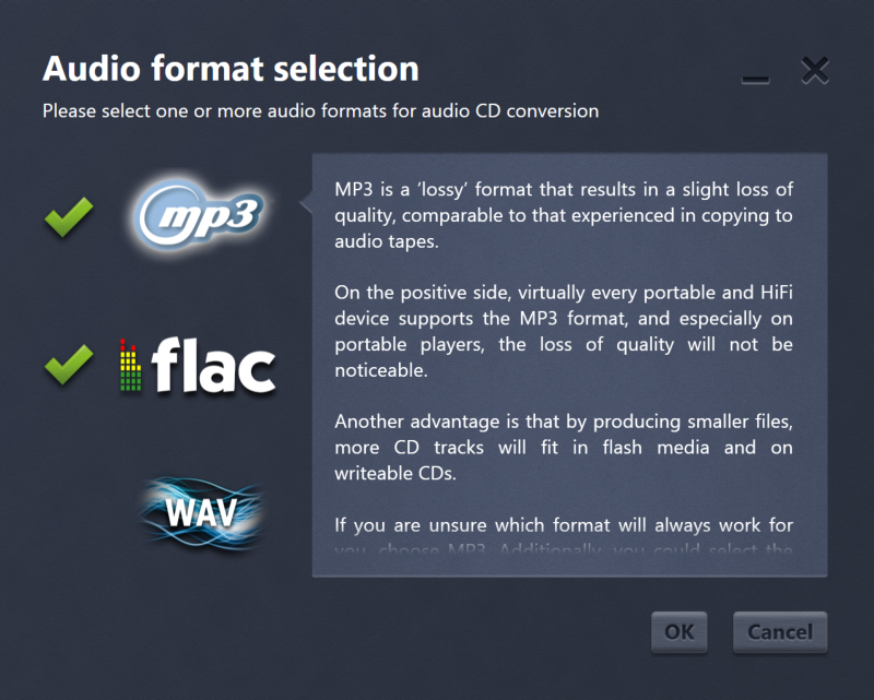 Easy Audio Copy, Audio Conversion Software Screenshot