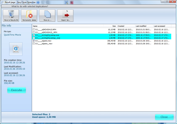 Software Utilities, Easy Clone detective Screenshot