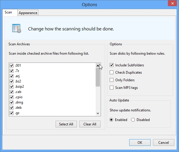 Easy Disk Catalog Maker, Cataloging Software Screenshot