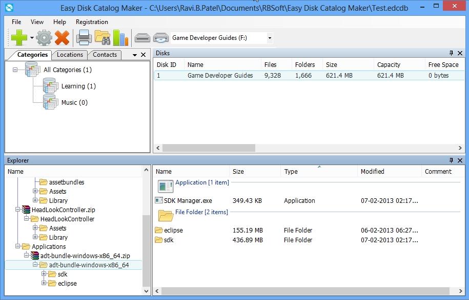 Easy Disk Catalog Maker Screenshot