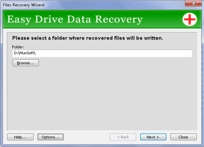 Easy Drive Data Recovery, Software Utilities Screenshot