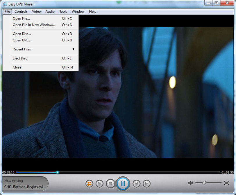 Easy DVD Player, Video Software Screenshot