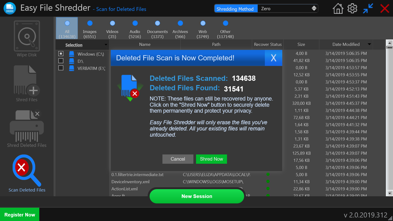 Easy File Shredder, Software Utilities Screenshot