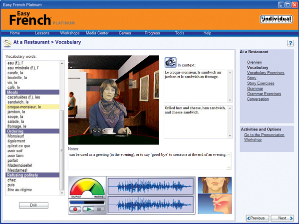 Easy Language Software, Learning and Courses Software Screenshot