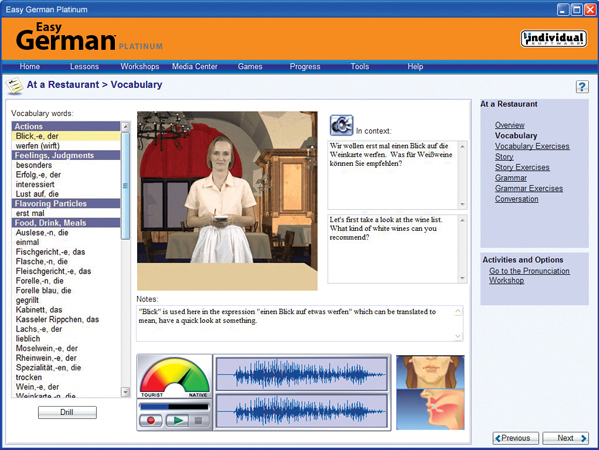 Learning and Courses Software, Easy Language Software Screenshot