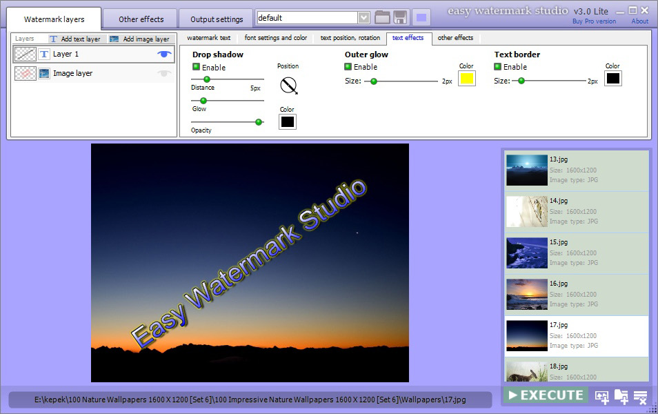 Easy Watermark Studio Pro 3.5, Design, Photo & Graphics Software Screenshot