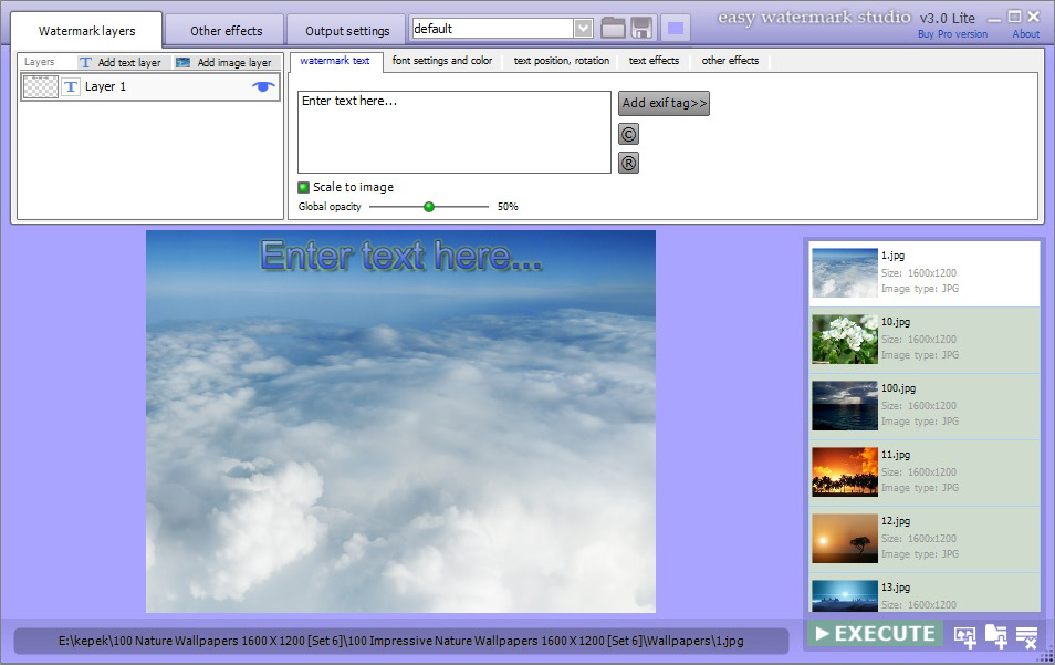 Easy Watermark Studio PRO V.3.4 Screenshot