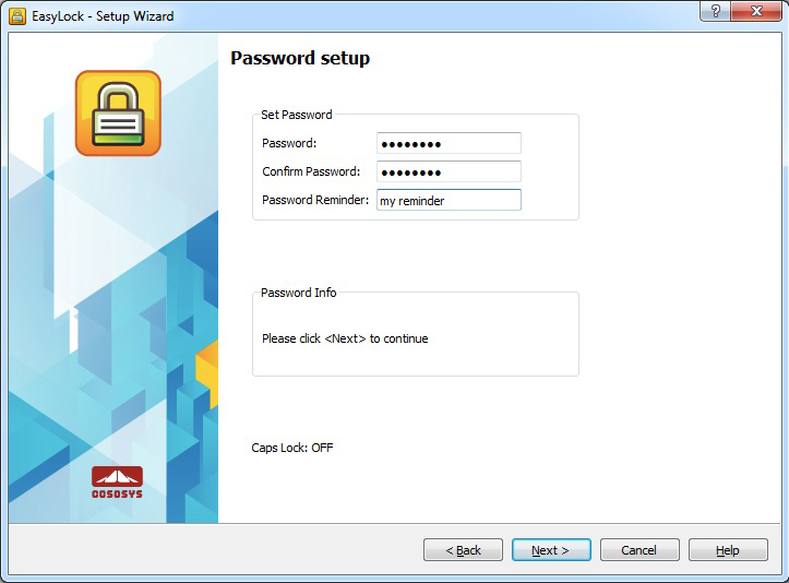 EasyLock - Portable Data Encryption, Security Software Screenshot